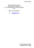 STUDY NOTES - Gr. 1 F.I. Independent Workbook - Pages - Ap