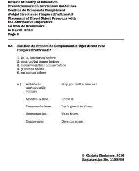 STUDY NOTES - PAGES - F.I. - Gr. 8 - Ont. Min. of Ed. - April 6, 2018