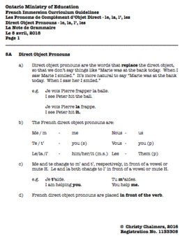 STUDY NOTES - PAGES - GR. 5 F.I. - ONT. MIN. OF ED. - AUGUST 3, 2018