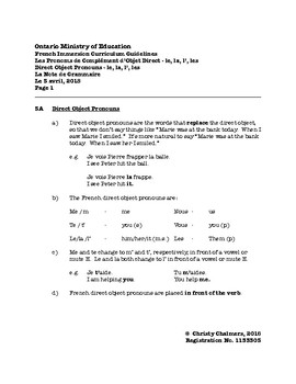 STUDY NOTES - PDF - F.I. - Gr. 5 - Ont. Min. of Ed. - April 6, 2018
