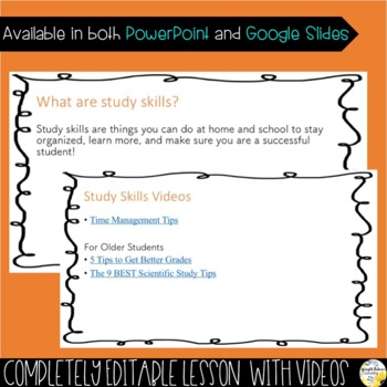 STUDY SKILLS PowerPoint Guidance Lesson