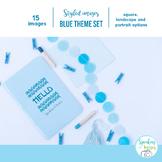 STYLED IMAGES: BLUE THEME DESKTOP