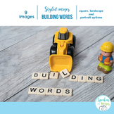 STYLIZED IMAGES: PHONEMIC AWARENESS with Construction theme