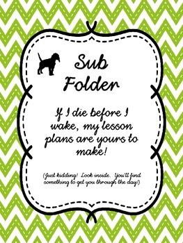 SUB BINDER COVER