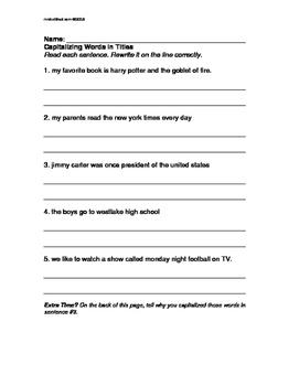 ELA SUBSTITUTE Fillers: Grade 3- TWO Useful WORKSHEETS