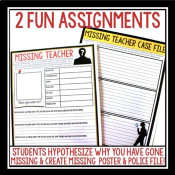 EMERGENCY SUB PLAN: MISSING TEACHER