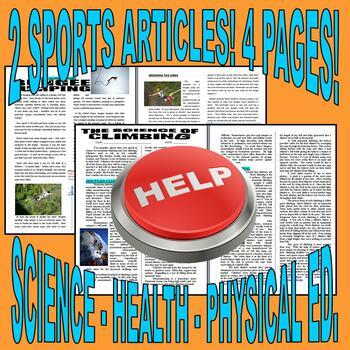 SUB PLAN 03 - EXTREME SPORTS (Science / Health / P.E. / Language Arts)