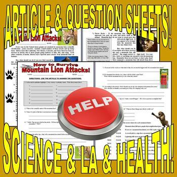 SUB PLAN 05 - ANIMAL ATTACKS (video, article, puzzles)