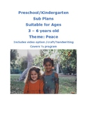 SUB PLANS Peace theme Lesson Plan Pre-k to Kinder Reggio Centers Play Based