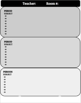 SUB Plans Graphic Organizer