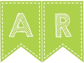 SUBJECT BANNERS (LIME GREEN AND WHITE)