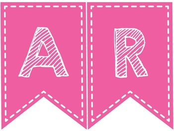 SUBJECT BANNERS (PINK AND WHITE)