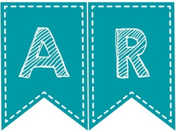SUBJECT BANNERS (TURQUOISE AND WHITE)
