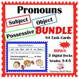SUBJECT, OBJECT, POSSESSIVE PRONOUNS ...  BUNDLE ... Grades 3-4-5