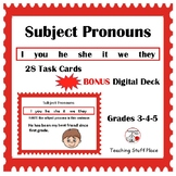 SUBJECT PRONOUNS ... Grammar, Parts of Speech, PLUS Boom Learning™  Gr 3-4-5