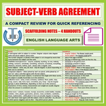 Subject Verb Agreement 10 Rules By John Dsouza Tpt
