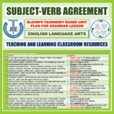 SUBJECT-VERB AGREEMENT: LESSON PLAN AND RESOURCES