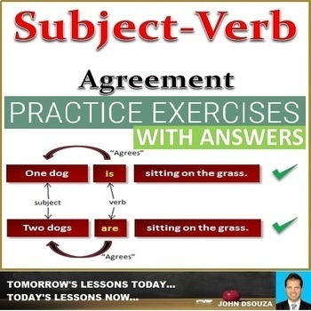 SUBJECT-VERB CONCORDANCE: WORKSHEETS WITH ANSWERS