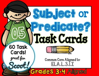 Subject or Predicate 3rd Grade