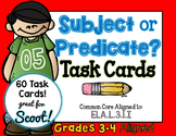 Subject or Predicate 3rd Grade