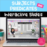 SUBJECTS & PREDICATES Activities for Google Slides for Dis