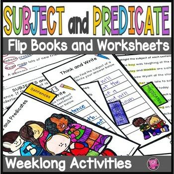 Subjects and Predicates Mini Flip Book