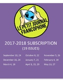 SUBSCRIPTION: Biweekly news summaries for French students; 2017-2018 school year