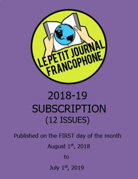 SUBSCRIPTION: Monthly news summaries for French students; 2018-2019 school year
