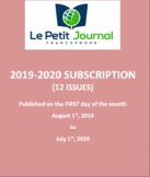 SUBSCRIPTION: Monthly news summaries for French students; 2019-2020 school year