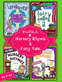 SUBSTITUTE LESSON PLAN BUNDLE {NO PREP} NURSERY RHYMES  & FAIRY TALES