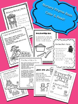 SUBSTITUTE LESSON PLANS {NO PREP} NURSERY RHYMES - VOL 1