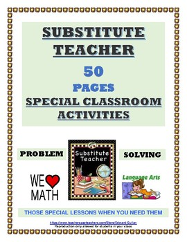 SUBSTITUTE TEACHER - SPECIAL CLASSROOM ACTIVITIES