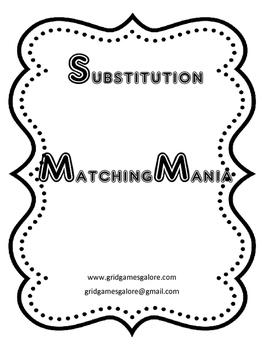 SUBSTITUTION MatchingMania