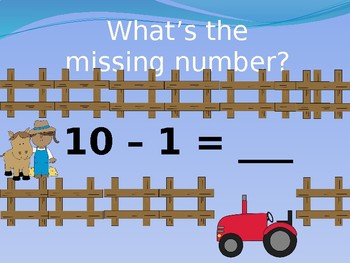 SUBTRACTION BASIC FACTS TO 10 ANIMATED POWERPOINT SLIDE SHOW