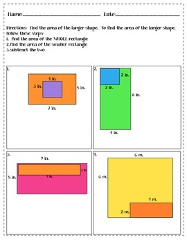 SUBTRACTING TO FIND AREA