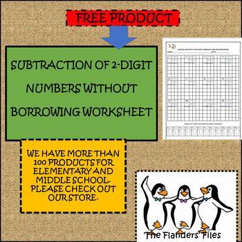 SUBTRACTING TWO-DIGIT NUMBERS NO BORROWING WORKSHEET