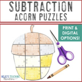 SUBTRACTION Acorn Activity | Make a FUN Fall Craft, Puzzle, or Game!