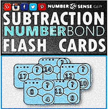 SUBTRACTION BAR MODEL FLASH CARDS