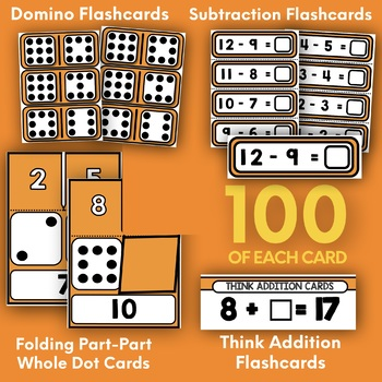 SUBTRACTION BASIC FACTS STRATEGY CARD BUNDLE