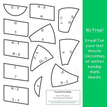 SUBTRACTION Candy Cane Art Activity | Christmas Coloring Sheet Alternative