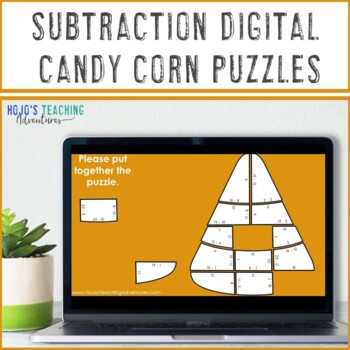 SUBTRACTION Candy Corn Activities   Great for Fall Math Centers or Games