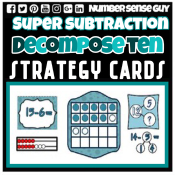 SUBTRACTION DECOMPOSE TEN STRATEGY CARDS
