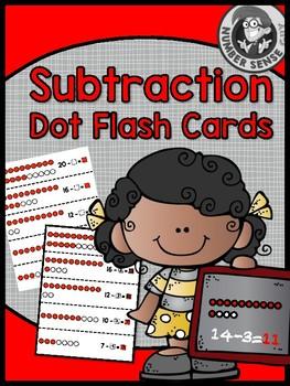 SUBTRACTION DOT IMAGES FLASH CARDS