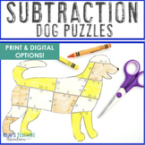 SUBTRACTION Dog Puzzles   Fire Safety Worksheet Alternatives - Make a Dalmation