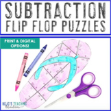 SUBTRACTION Back to School Activities: Flip Flop Centers {