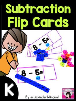 SUBTRACTION FLIP CARDS