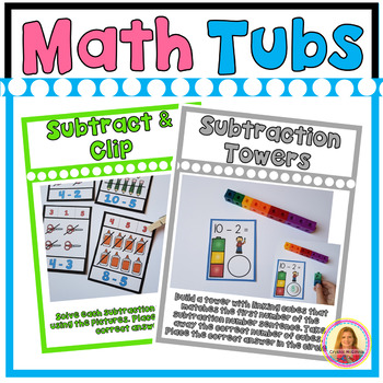 SUBTRACTION FROM 10 Year of Morning Math Tubs or Centers Set 6!