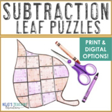 SUBTRACTION Fall Activities | FUN Leaf Math Puzzles {Use with The Leaf Man Book}