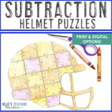 SUBTRACTION Football Math Stations | Sports Theme Classroo