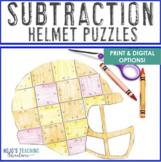 SUBTRACTION Football Math | Sports Theme Classroom Supplem